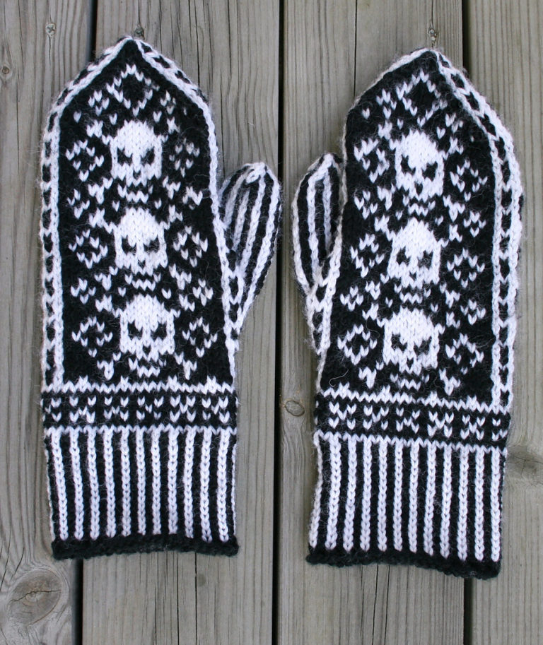 Free Knitting Pattern for Pirate Mittens