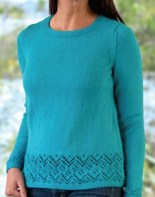 Placed Lace Pullover Free Knitting Pattern