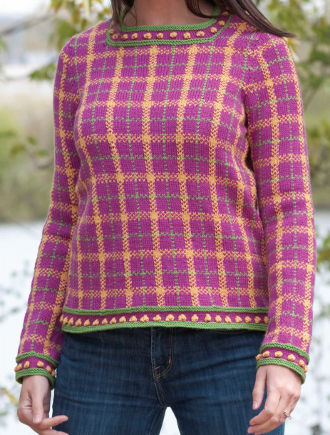 Free Knitting Pattern for Plaid Pullover