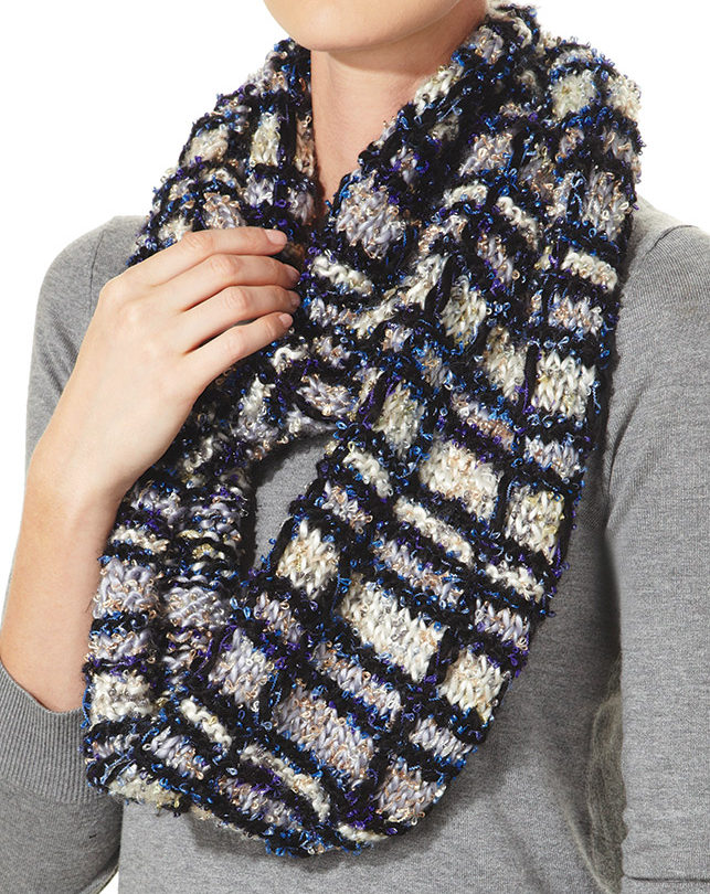 Free Knitting Pattern for Carnegie Hill Classic Plaid Scarf