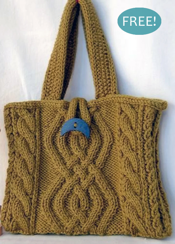 Free Knitting Pattern for Plaits and Twists Bag