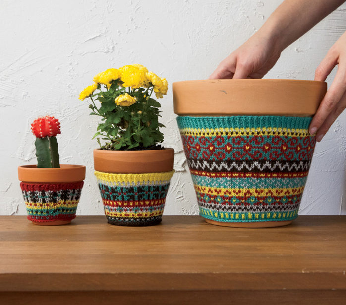 Free Knitting Pattern for Plant Cozies