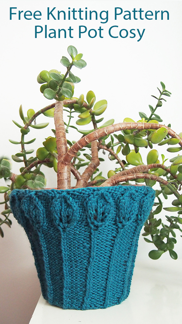 Free Knitting Patterns for Plant Pot Cosy
