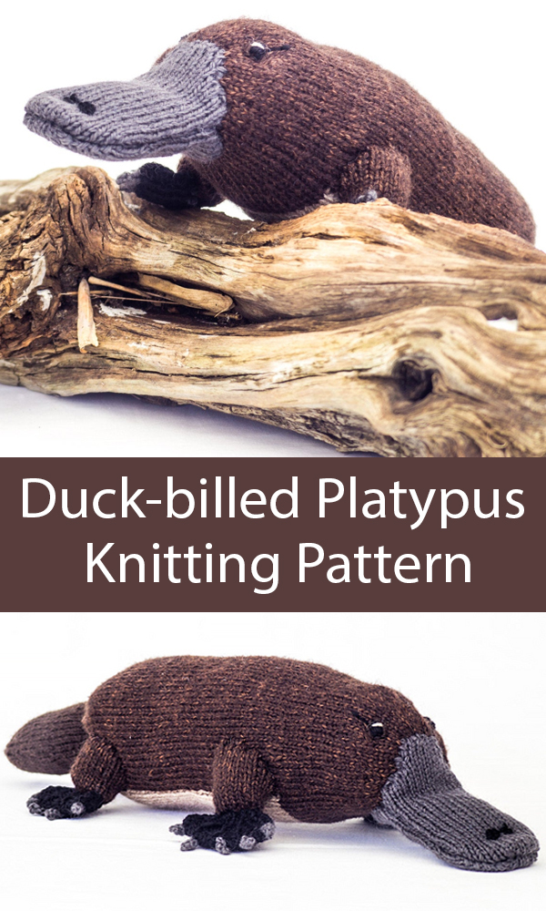 Knitting Pattern for Duck-billed Platypus Australian Animal Toy