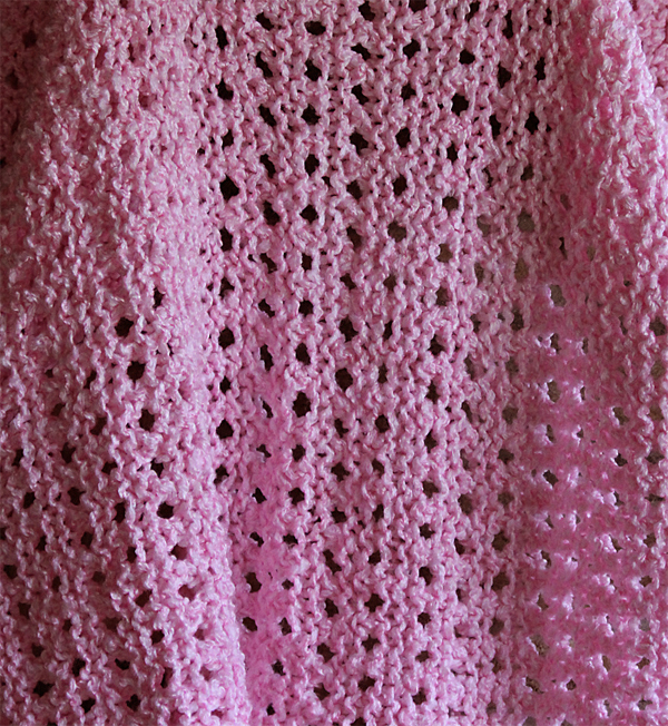 Free Knitting Pattern for Playtime Baby Blanket
