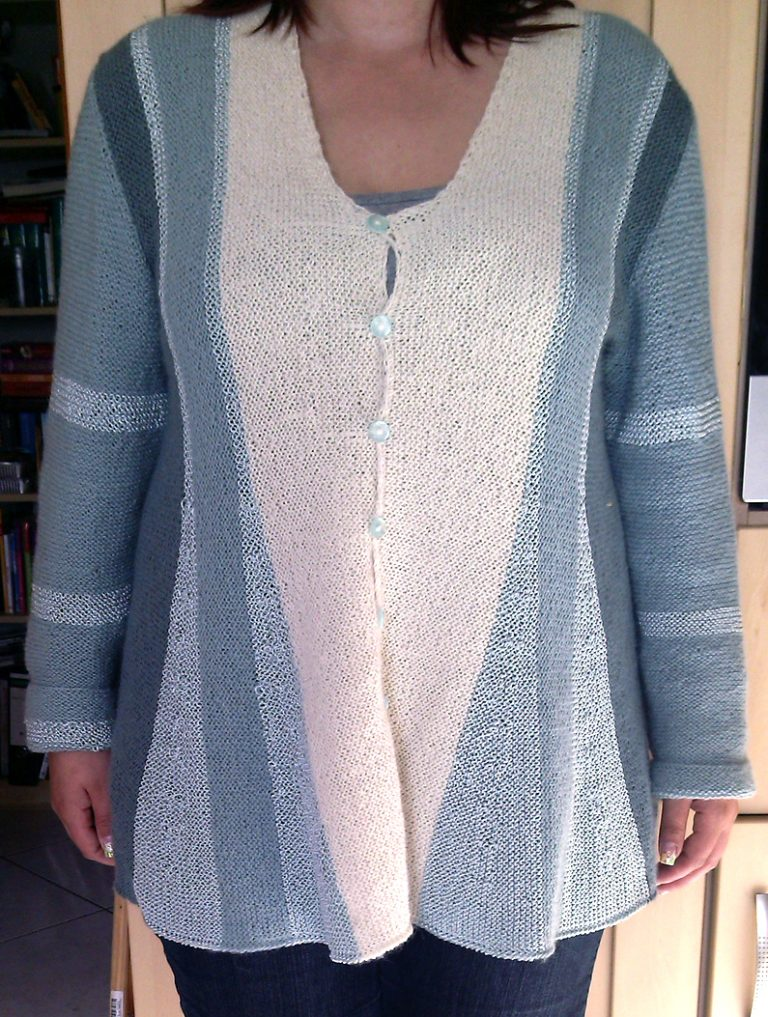 Free Knitting Pattern Pleated Jacket