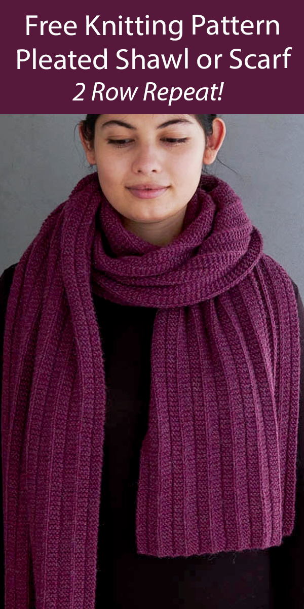 Free Shawl Knitting Pattern Pleated Wrap or Scarf
