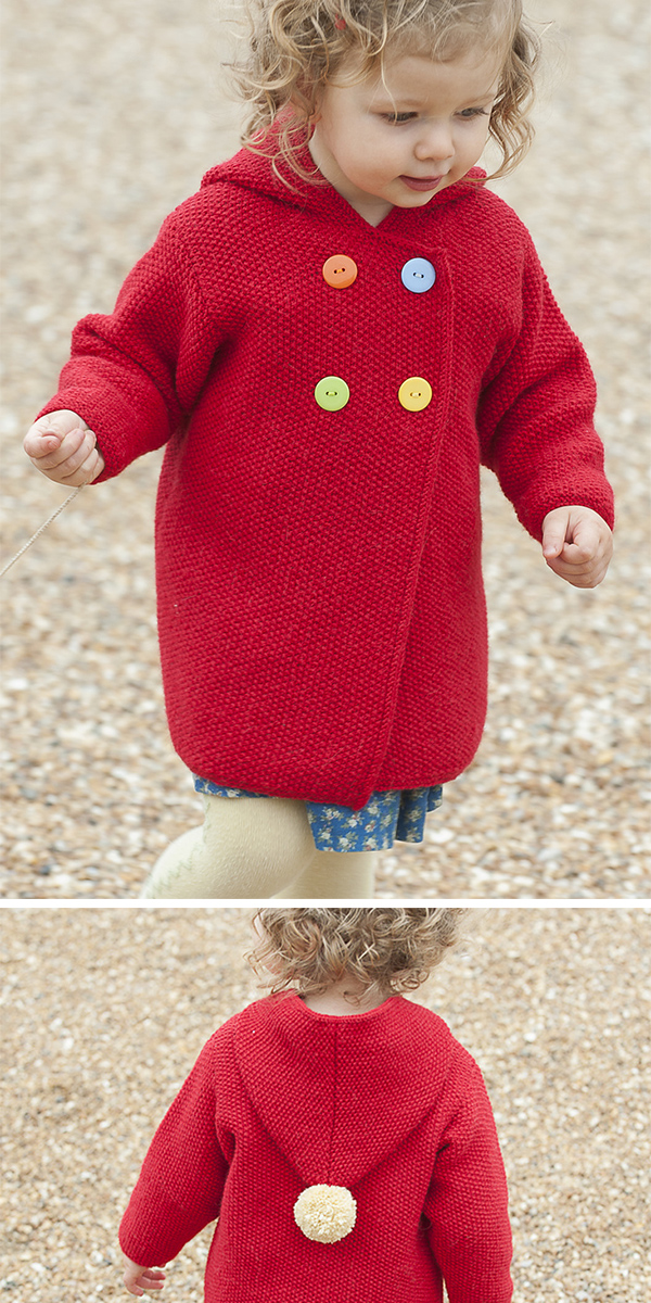 Free Knitting Pattern for Plumpton Coat
