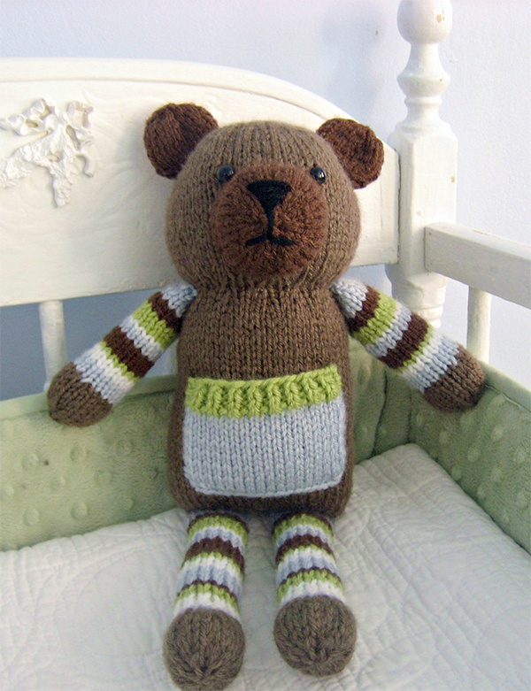 Knitting Pattern for Pocket Bear