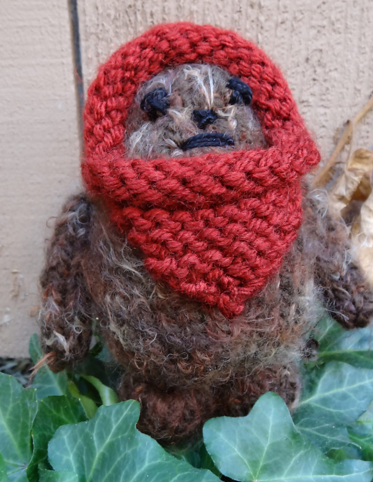 Free Knitting Pattern for Pocket Ewok