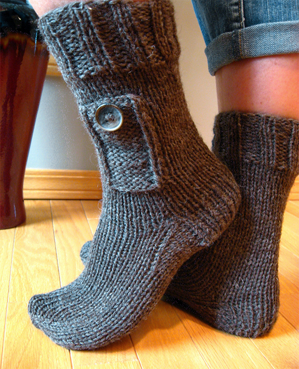 Knitting Pattern for Pocket Socks