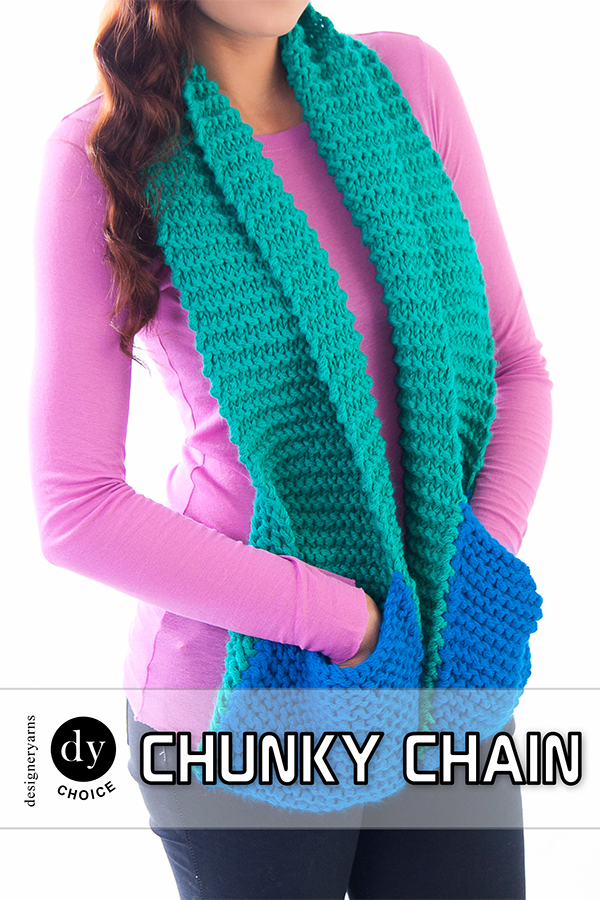 Free Knitting Pattern for Easy Pocketed Scarf