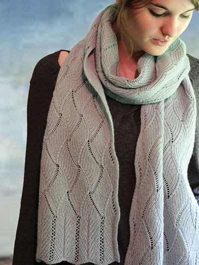 Knitting pattern for Poem River Scarf and more cozy scarf knitting patterns