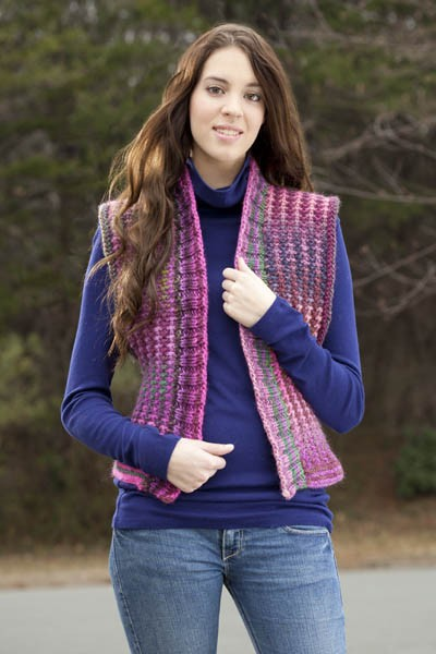 Free knitting pattern for Poetry in Motion Vest and more vest knitting patterns
