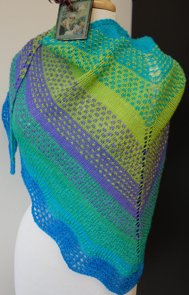 Free Knitting Pattern for Pointillés Shawl