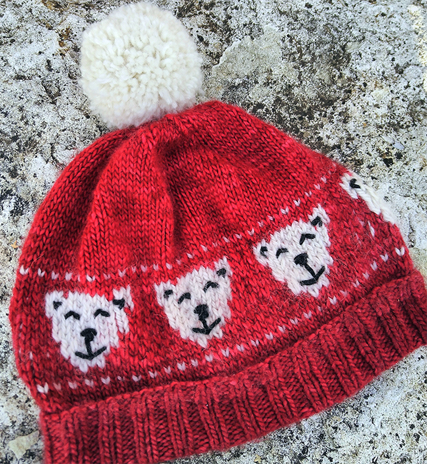 Free Knitting Pattern for Polar Bear Hat