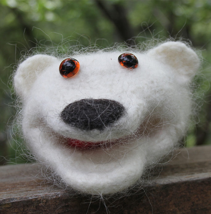 Free Knitting Pattern for Polar Bear Puppet
