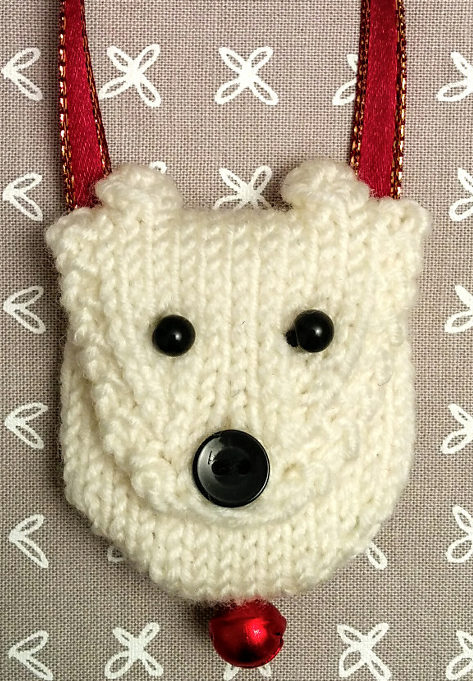 Free Knitting Pattern for Polar Bear Pouch