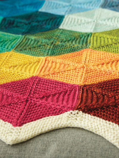 Knitting Pattern for Polygon Blanket