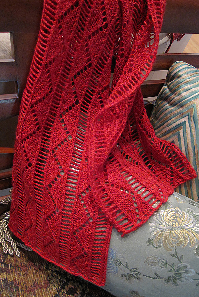 Knitting Pattern for Pompa Scarf