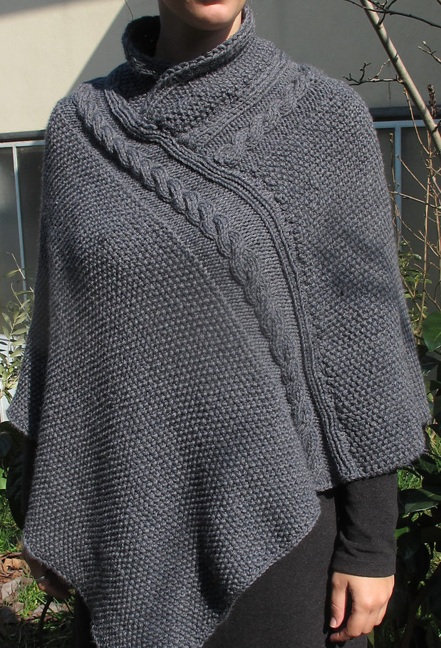 Free Knitting Pattern for Alexis Poncho