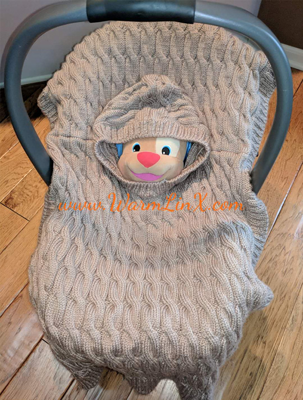 Free Knitting Pattern for Baby Poncho Blanket