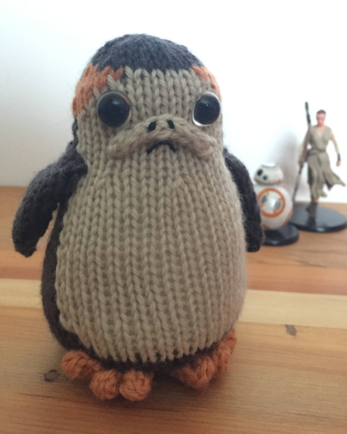 Knitting Pattern for Porg