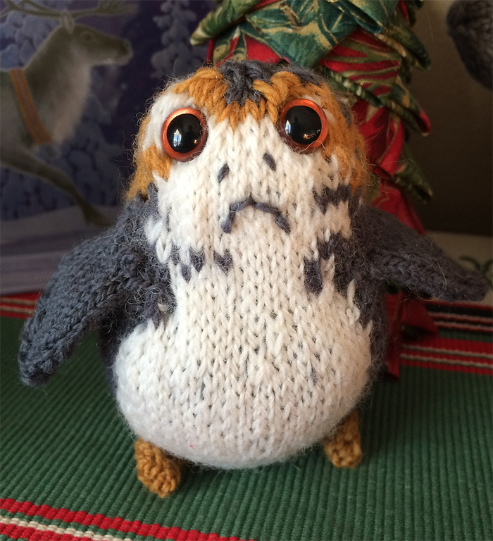 Free Knitting Pattern for Porg Toy