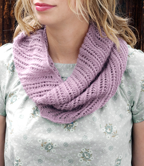 Free Knitting Pattern for 2 Row Repeat Port Isabel Cowl