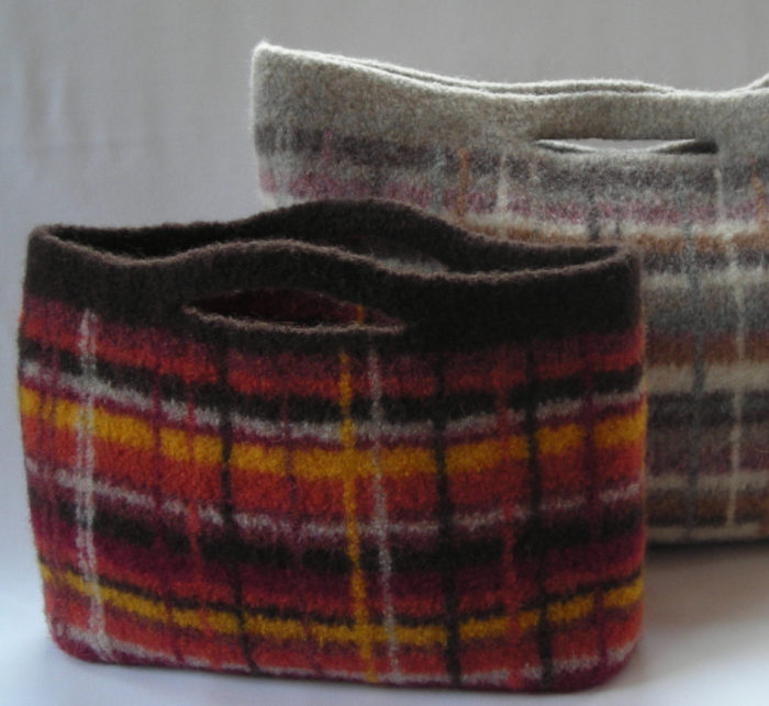 Knitting Pattern for Portland Plaid City Clutch