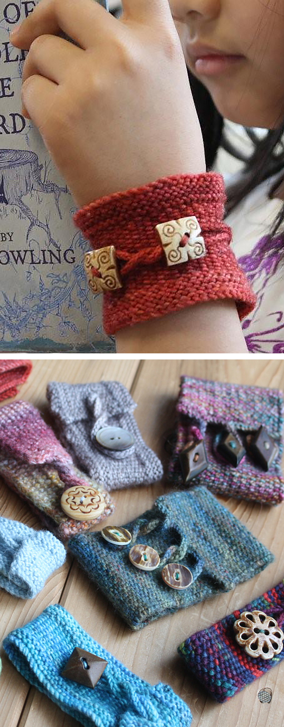 Free Knitting Pattern for Pretty Twisted Cuff