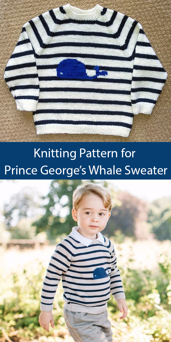 Knitting Pattern for Prince George's Whale Sweater