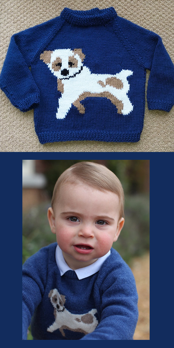 Knitting Pattern for Prince Louis Dog Sweater