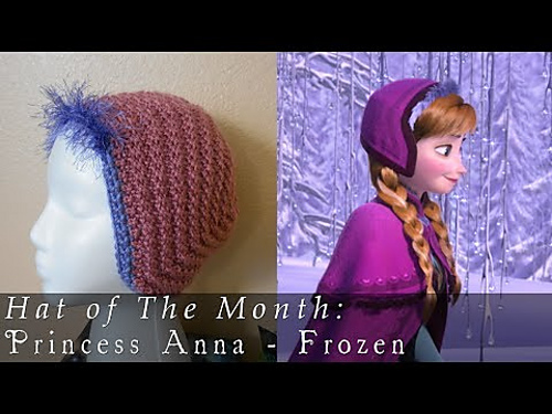 Princess Anna Hat Knitting Pattern Tutorial by Pleasantseas | Frozen Inspired Knitting Patterns at https://intheloopknitting.com/frozen-knitting-patterns