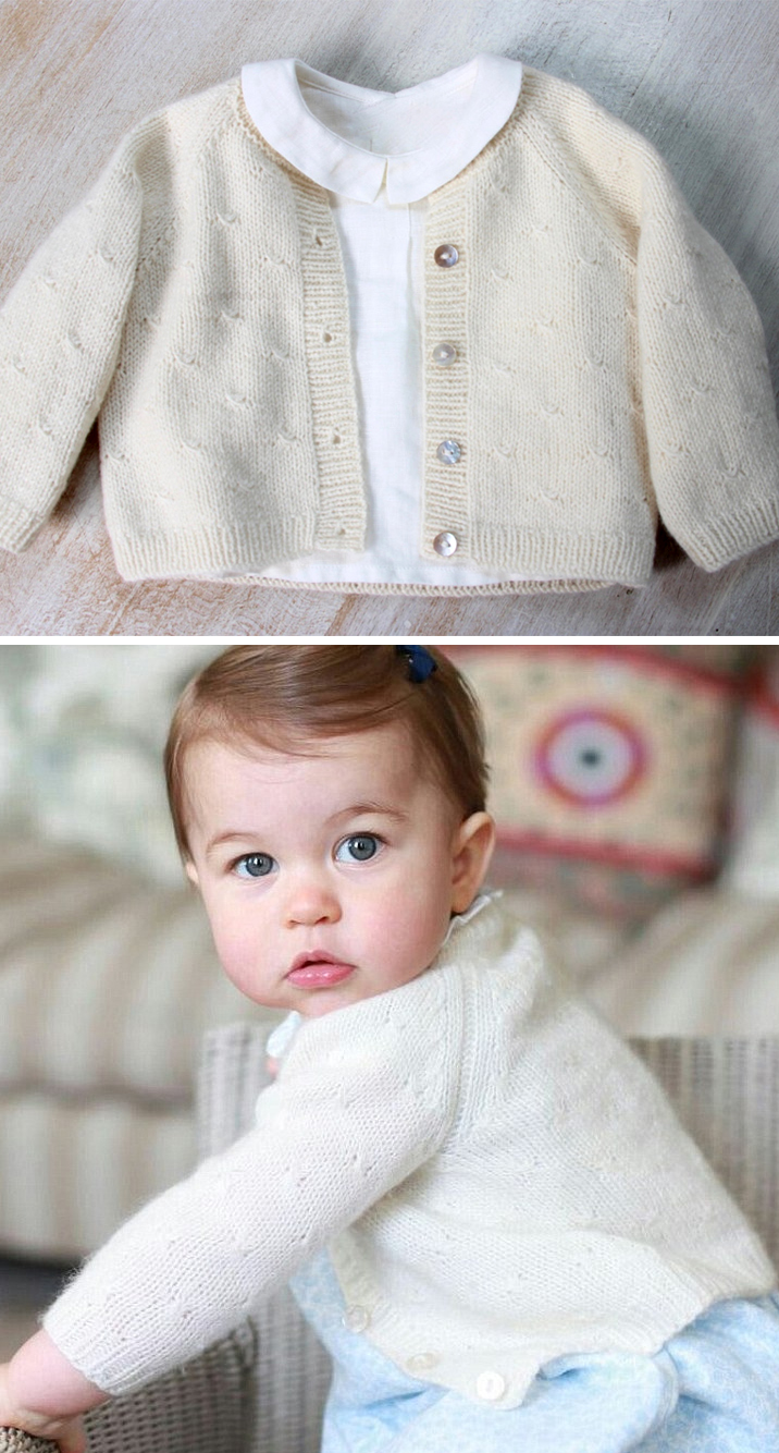 Knitting Pattern for Princess Charlotte Cardigan