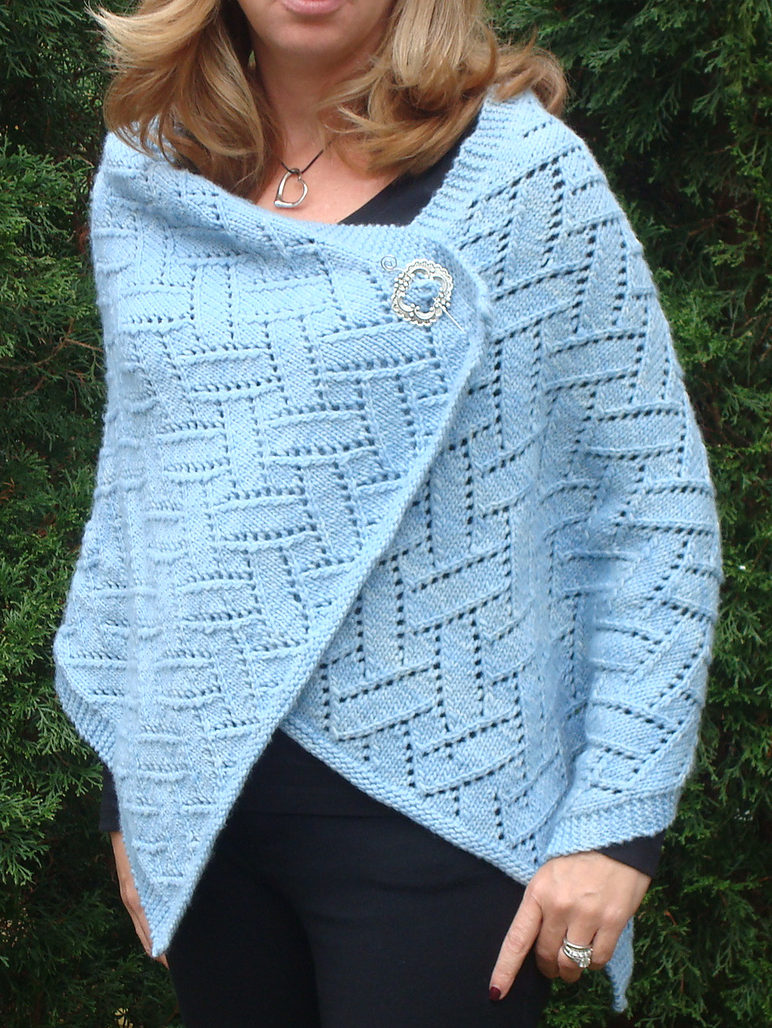 Free Knitting Pattern for Princess Lace Wrap