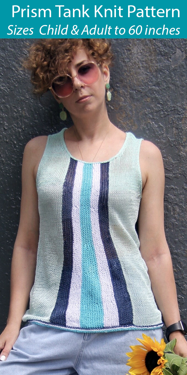 Knitting Pattern for Prism Tank Top