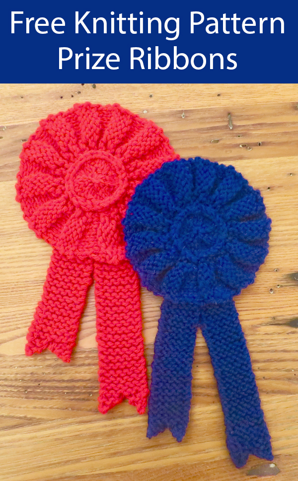 Free Knitting Pattern for Prize Ribbons