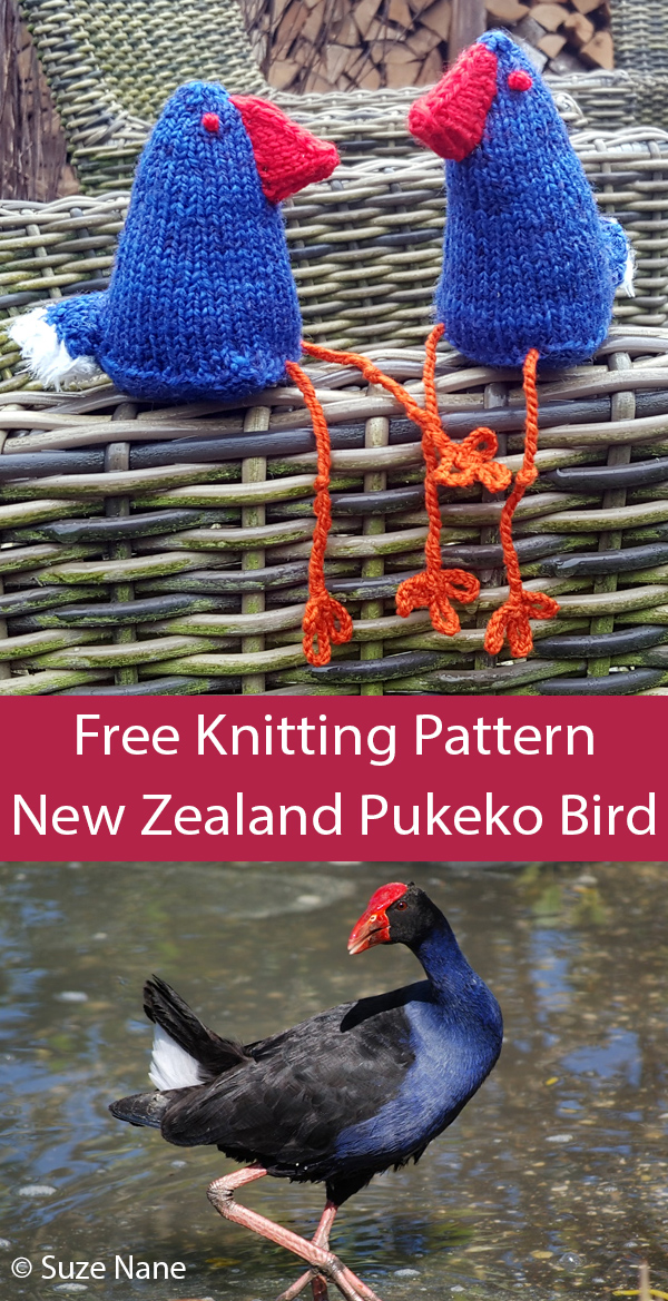 Free Knitting Pattern for Pukeko Bird of New Zealand