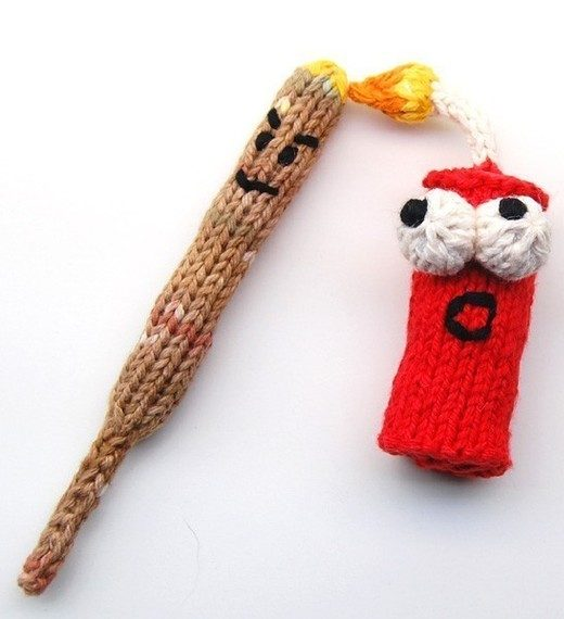 Knitting Pattern for Punky and KaBOOM Firecracker Amigurumi Toy