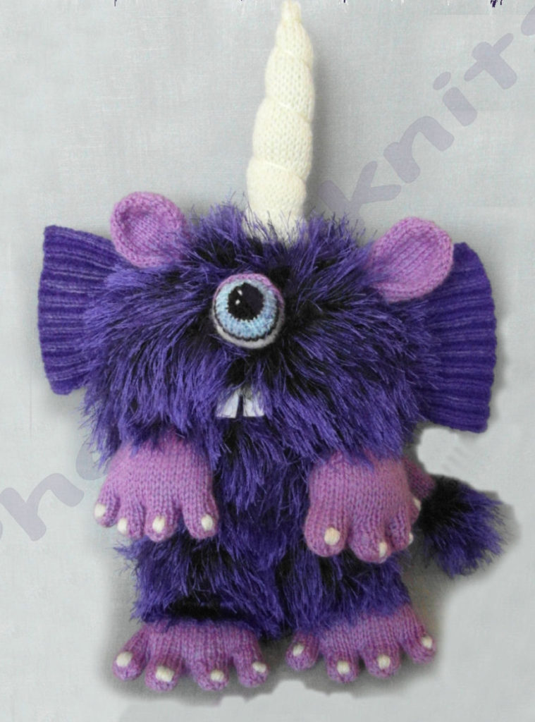 Knitting Pattern for Purple People Eater