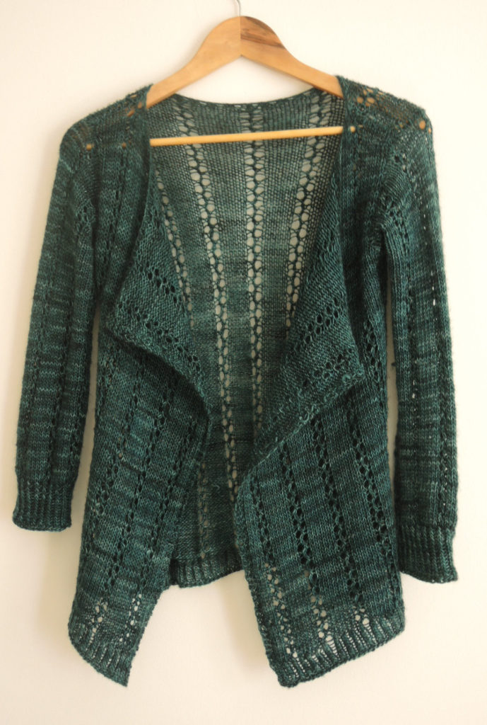 Knitting Pattern for 4 Row Repeat Lace Cardigan