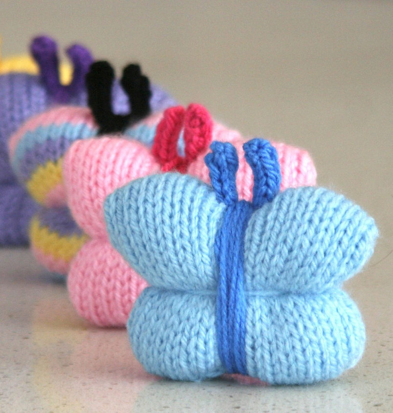 Free Knitting Pattern for Quick and Easy Butterfly