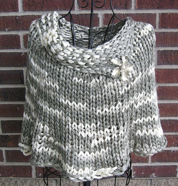 Knitting pattern for Quick Knit Capelet