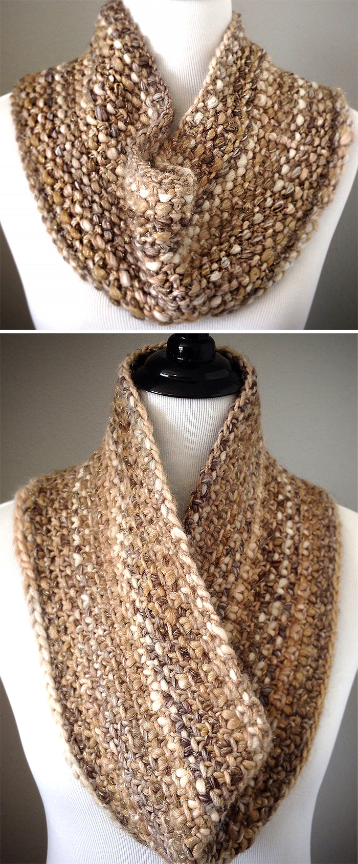 Free Knitting Pattern for Quick Slip Cowl