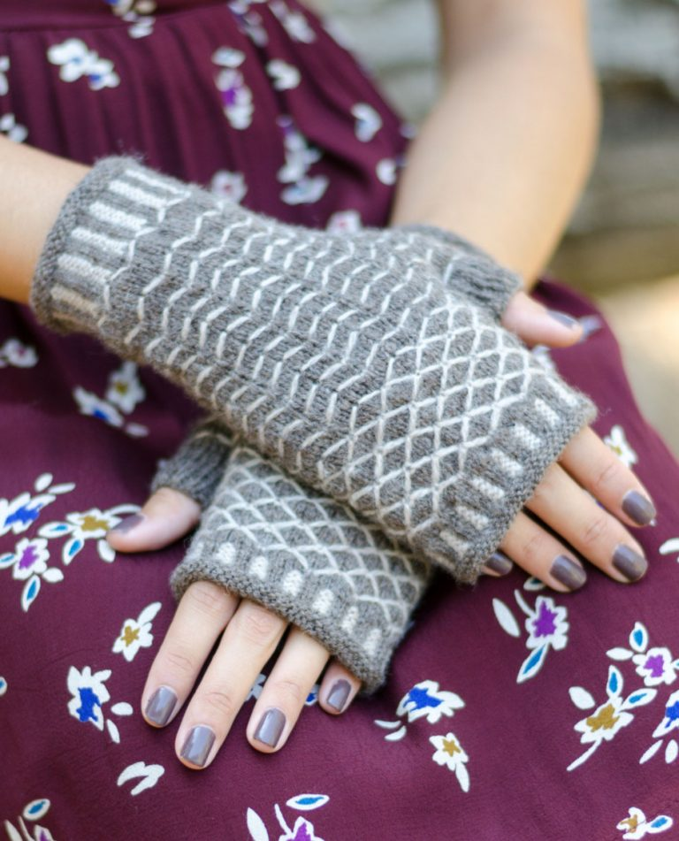 Knitting Pattern Quilted Lattice Mitts