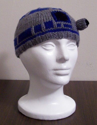 R2D2 Beanie Free Knitting Pattern and more fun hat knitting patterns