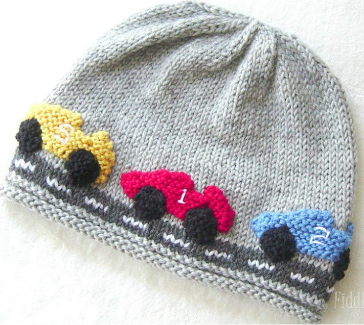 Knitting Pattern for Race Car Hat
