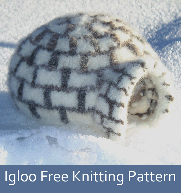 Free Knitting Pattern for Igloo