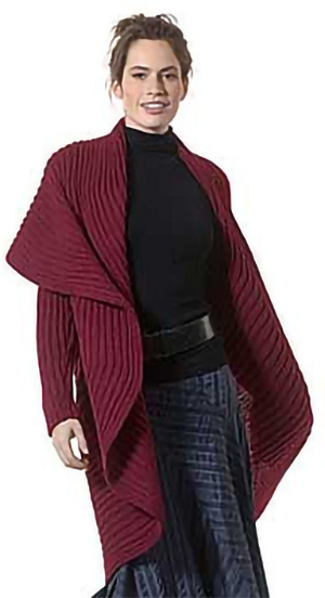 Free knitting pattern for Radha coat shrug